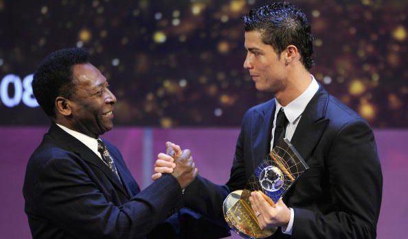 Pele, Cristiano Ronaldoyu tebrik etti: Sana çok hayranım