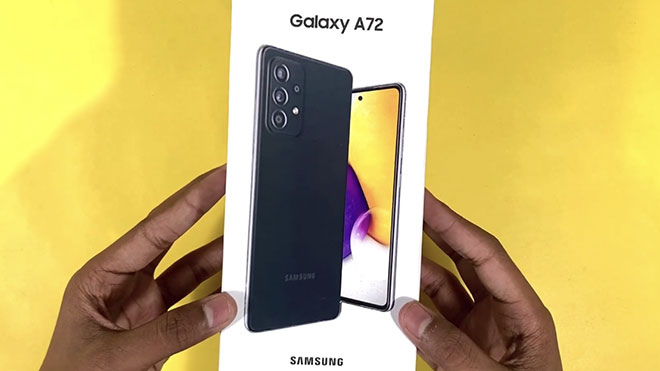 Samsung Galaxy A72 için kutu açma videosu ile detaylar geldi